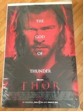 Thor original one sheet movie poster double sided, rolled