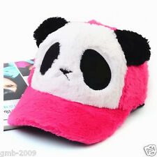 Women Rose Red Cute Bear Panda Animal Winter Ski Trucker Baseball Sports Cap Hat