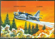 SIERRA  LEONE  IMPERF AIRPLANNES CANADAIR CL
