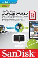 SanDisk 32GB OTG Ultra Dual Micro USB3.0 Flash Thumb Key Drive Memory Stick