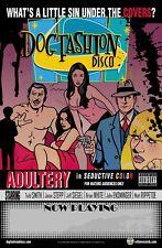 DOG FASHION DISCO - ADULTERY Promo Poster - Original DFD Rotten Records