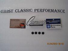 "1968 -1969 "" Camaro by Chevrolet "" Deck Trunk Lid Nose -Header Panel Emblem EACH"
