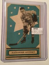 1933 Opc hockey Alex Levinsky vintage card