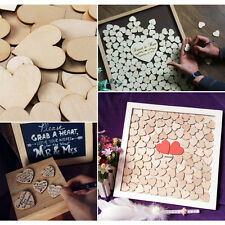 30pcs Wooden Love Heart Shape for Weddings Plaques Art Craft Embellishment 40mm