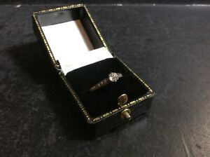 Antique 18Ct Gold Old Rose Cut Diamond Solitaire Ring (0.33Ct 1/3Ct) Size P1/2