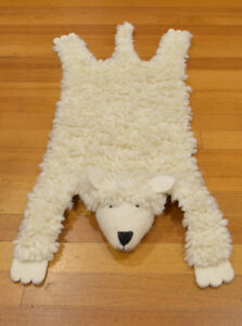 KIDS  RUG CHILDREN ROOM FLOOR Animal SKIN Sheep Rug RUG WOOLEN RUG CHILDREN RUGS