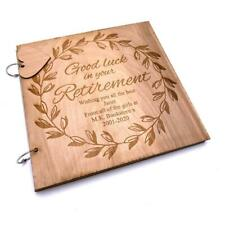 Personalised Retirement Sentiment Memories Scrapbook Photo Album Personalised Re