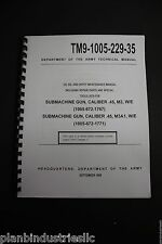 TM9-1005-229-35 Submachine Gun Caliber .45 M3 M3a1 Maintenance / Parts Manual