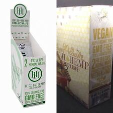 High Hemp Organic & Honey Pot Mix 2 Boxes- 50 Pouches -100 Wraps/Filters!