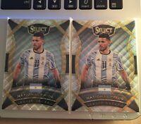 (2 LOT) 2016-17 Sergio Aguero Panini Select Soccer National Pride #3 Argentina
