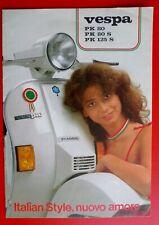 Ancien Catalogue Brochure Piaggio Vintage Cyclomoteur