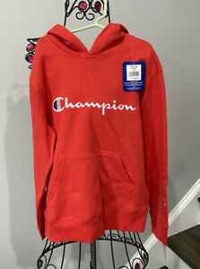 Childs Champion Authentic Athletic Wear Hooded Sweat Shirt~Small ~ Red New