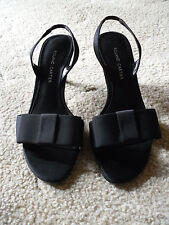 Black fabric strappy ladies sandals by Roland Cartier - size 6 (narrow fitting)