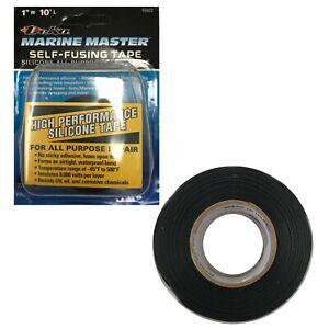 "Deka Marine Master Black Self Fusing Silicone Auto Rescue Tape 1"" x 10' FT - USA"