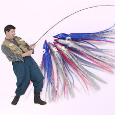 Octopus Squid Skirt Lure Assorted Fishing Lure Bait Hoochies 5'100pcs 12cm