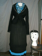 Victorian Dress Women's Edwardian Costume Civil War Reenactment Complete Outfit