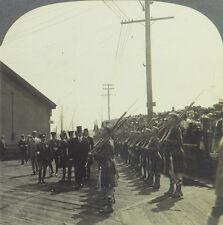 Keystone Stereoview President Harding Inspecting Troops, Canada: Alaska Trip '23