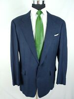 Gieves Hawkes Savile Row Navy Blue Soft LambsWool Blazer Jacket Sport Coat 42L