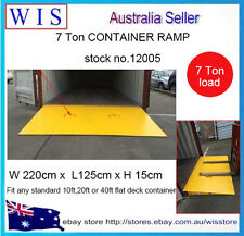 7 Ton Steel Container Ramp,Forklift Loading Ramp,Easy for Forklift in/out,1.25m