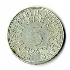 Moneda Alemania 1967 J 5 marcos plata .625 silver coin Deutsche Marck