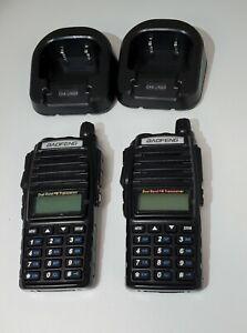 2x Baofeng UV-82 Walkie Talkie Dual-Band V/UHF 2800mAh Two Way Radio Transceiver