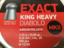 JSB Exact King Heavy .25 6.35mm Pellets Diabolo Airgun Air Rfile Domed tin 300