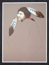 "FRANK HOWELL ""Little Raven"" Original Lithograph BEAUTIFUL Native American 1994"
