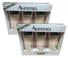 6 x 200ml Aveeno Daily Moisturising Body Lotion Normal To Dry Skin Unscented