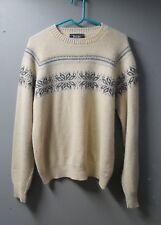 Vintage 70s Jantzen Mens Sweater, Snowflake Ski Sweater, Nordic Design, Size XL