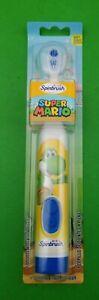 Arm & Hammer Super Mario Kids Spinbrush Soft Electric Battery Toothbrush, Yoshi