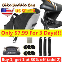 USA Rainproof Bike Saddle Bag Under Seat Storage Rear Tail Pouch Cycling Bag NEW