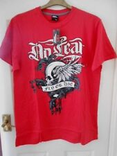 """No Fear T-Shirt, Tee, Size Large - 44"""", Red with 'Fly or Die' Motif, Bnwt"""