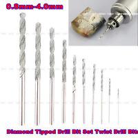 Hot 10Pcs/Set Diamond Tipped Drill Bit Set Twist Drill Bits For Glass Tile Stone