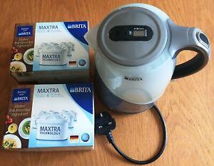 BREVILLE VKJ972 BRITA MAXTRA FILTER Kettle, 1 Ltr, Silver Grey + 8 New filters