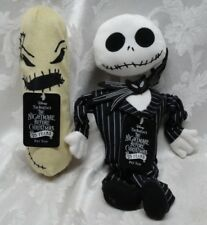 2Pc Nightmare Before Christmas Jack & Oogie Boogie Dog Pet Toys Squeaker Stretch