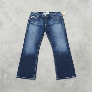 Ariat M7 Rocker Boot Thick Stitch Distressed Men's Jeans Size 40x30 NWT