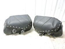12 Kawasaki VN900 VN 900 Vulcan Classic leather saddlebags saddle bags luggage