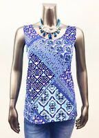 CHICO'S *NWT SIZE 2.(L) BLUE-MIX GYPSY TIMELESS TANK TOP
