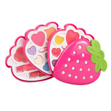 Strawberry Shape Makeup Kit for Girls, Washable Palette Cosmetics Beauty Set