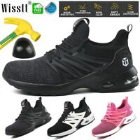 Safety Shoes Mens/Womens Lightweight Cushioned Steel Toe Cap Work Boots Trainers