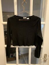 Urban Outfitters Long Sleeve Black Crop Top Size S