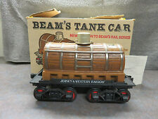 Jim Beam Porcelain Decanter Train set Railroad Tank Car Jersey & Western w/ box