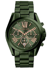 Michael Kors Bradshaw Olive Green Oversized Unisex Chronograph Watch