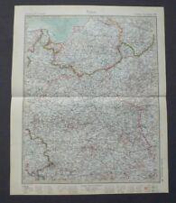 Landkarte Stieler, Polen, Ostpreussen, Warschau, Lodz, Gotha Perthes 1928, Haack