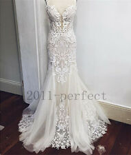 2017 Lace Wedding Dresses White Pure Mermaid Custom Lace Hot Sale Bridal Gowns