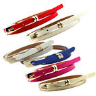 Fashion Woman's Belt Candy Color Waistband Skinny Thin Leather Belts Waist Belt