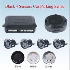 12V Buzzer Sensor 4 Sensors Black Car Parking Radar Kit Reverse Back up System