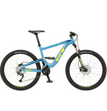 GT Verb Comp 27.5 (2018) Suspension Complète Mtb Shimano Mountain Bikes Bleu Taille S