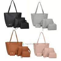 4pcs Set Women Leather Handbag Lady Shoulder Bags Tote Purse Messenger Satchel