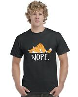 Nope Funny Cat Adults T-Shirt Tee Top Sizes S-XXL